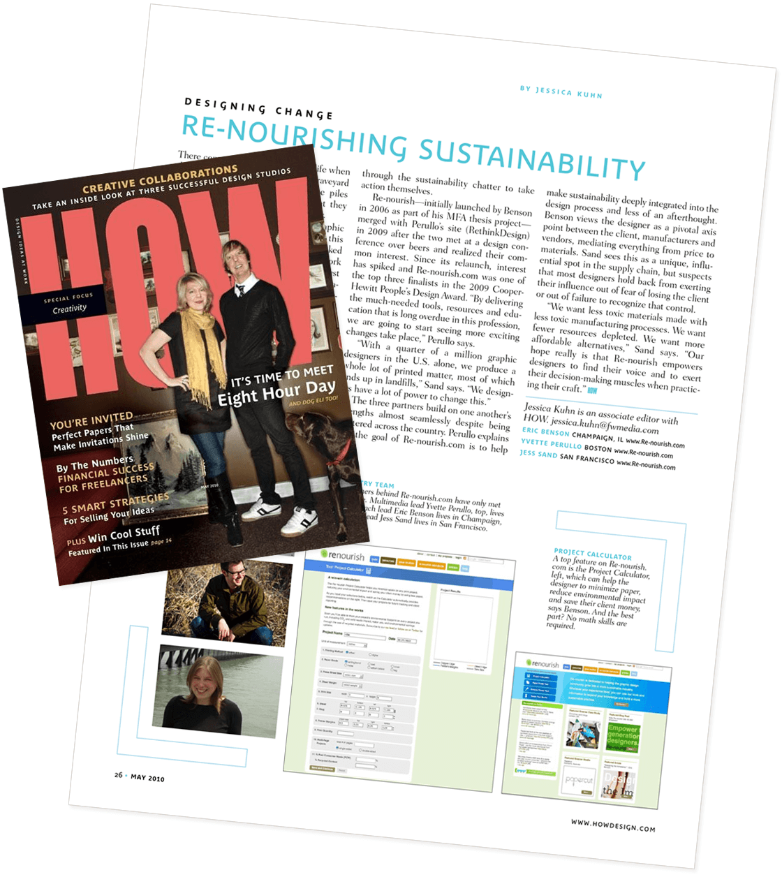 Sustainable graphic design: Media coverage in HOW Design magazine